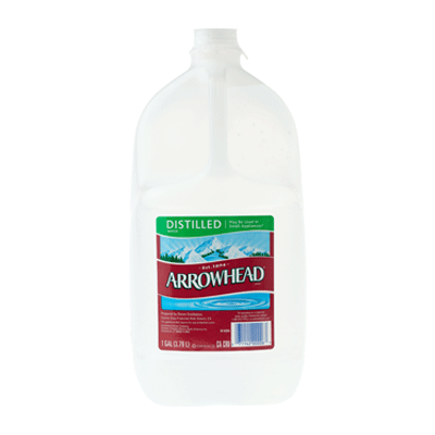 Distilled Water - 1 Gallon Bottle, 6 pack