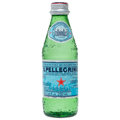 Sparkling Natural Mineral Water - 250 ml Bottle, 24 pack