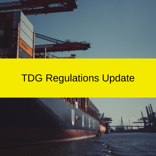 stakeholders must address any existing gaps with TDG Regulations before January 31, 2021