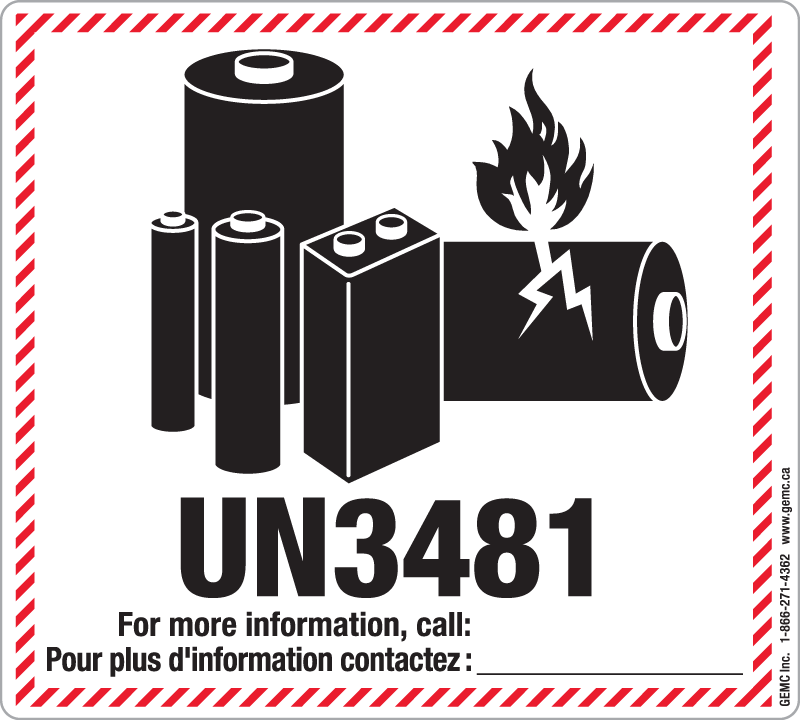 UN 3481 - Battery in Equipment