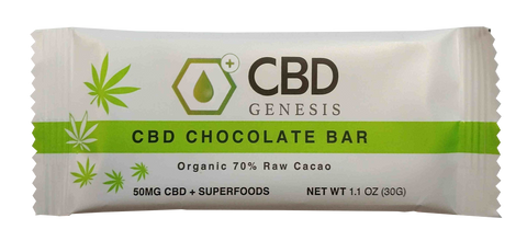 CBD Genesis Chocolate Bar w/superfoods