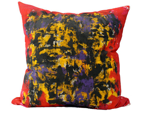 Bacio Genesis Red - Hand Painted Throw Pillow