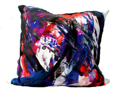 Bacio - Graffiti: Boston - Hand Painted Collectors Throw Pillows