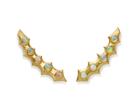 Spiny Opal Ear Climbers - Lisa Kim