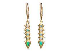 Spiny Opal Drop Earrings - Lisa Kim
