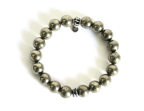Ocnarf Rock&Raw Pyrite Shield Bracelet - Men