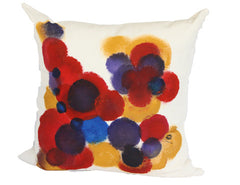 Bacio - Hand Painted Throw Pillow Colorati III