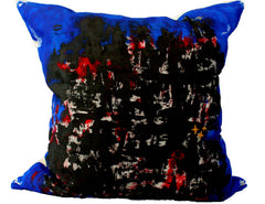 Bacio - Genesis Blue - Hand Painted Collectors Throw Pillow