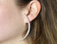Ocnarf Sairutsa - Crescent Diamond Earrings