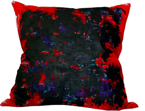 Bacio - Genesis Red - Hand Painted Collectors Throw Pillow