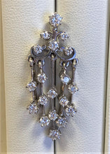 Load image into Gallery viewer, Estate 14kt White Gold Diamond Chandelier Earrings