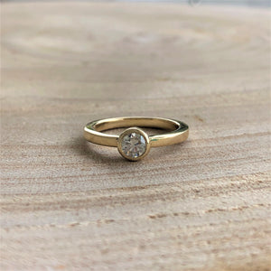 Bezel Set Diamond Ring