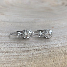 Load image into Gallery viewer, Vintage Style Double Drop Diamond Earrings