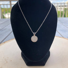 Load image into Gallery viewer, Pave Circle Diamond Pendant Necklace