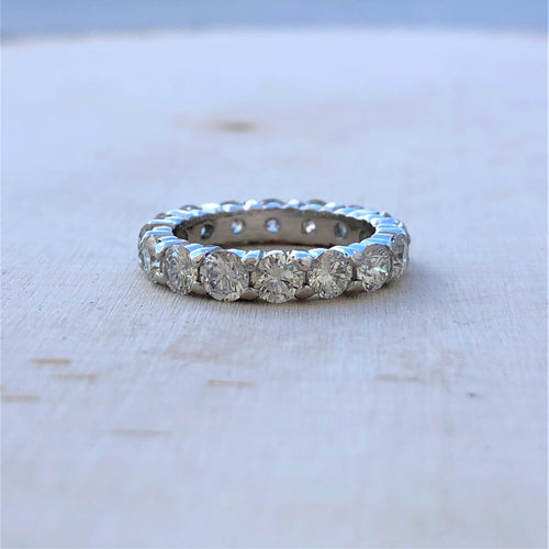 Round Diamond Eternity Band