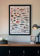 Load image into Gallery viewer, Framed Seafood Poster Special A1 size (841mm x 594mm)
