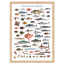 Load image into Gallery viewer, NZ Seafood collection archival print