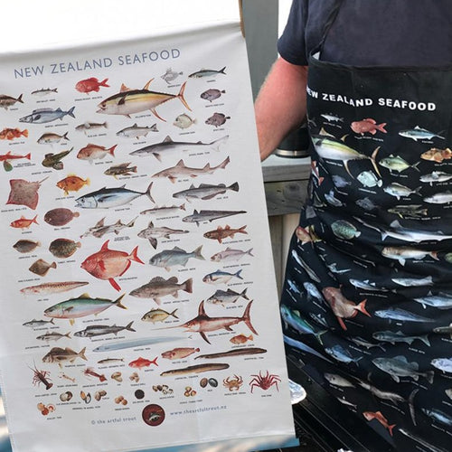 Seafood apron and Teatowel bundle special