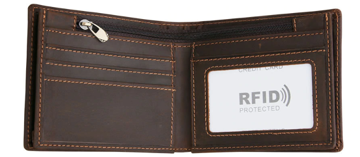 Vintage Style RFID Leather Wallet - BeSmashing