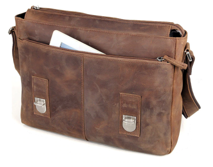 Classic Vintage Style Leather Messenger Bag - BeSmashing