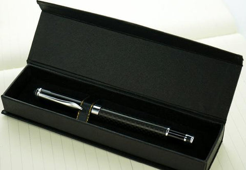 Black Carbon Fibre Ballpoint Pen - BeSmashing
