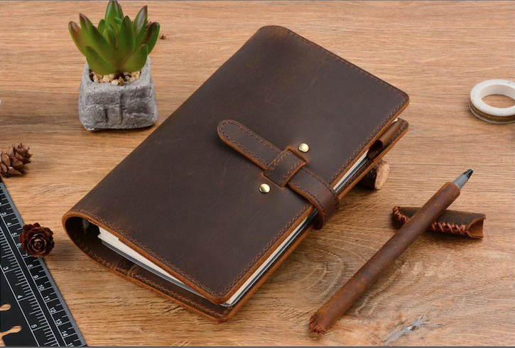Handmade Vintage Style Leather Bound Refillable Notebook - BeSmashing