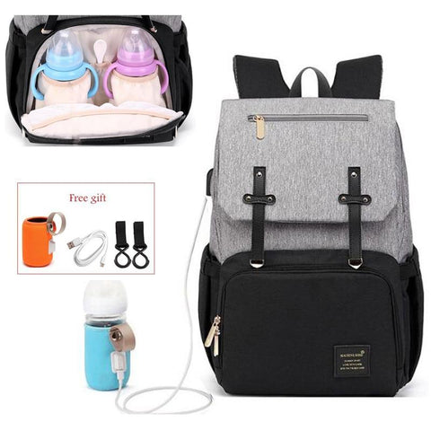 Waterproof Nappy Bag Backpack With Bottle Warmer! BeSmashing