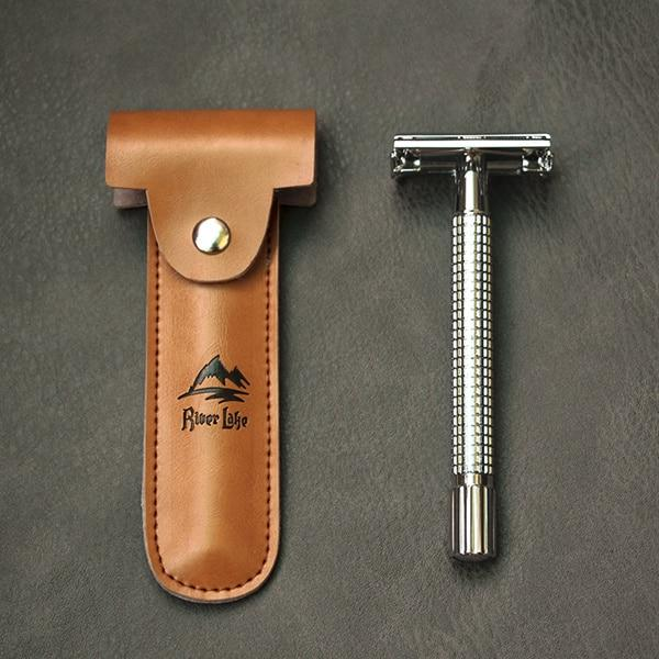 Alloy Razor Handle 5 Safety Razors and Case - BeSmashing