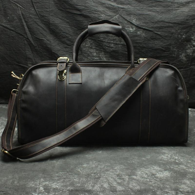 Large Leather Duffel Travel Bag - BeSmashing