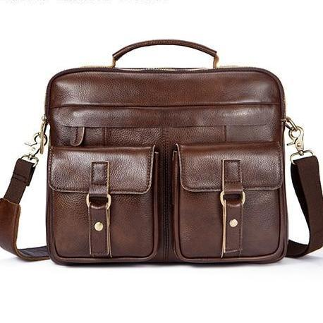 Double Pocket Leather Laptop Bag 7 Colours! - BeSmashing