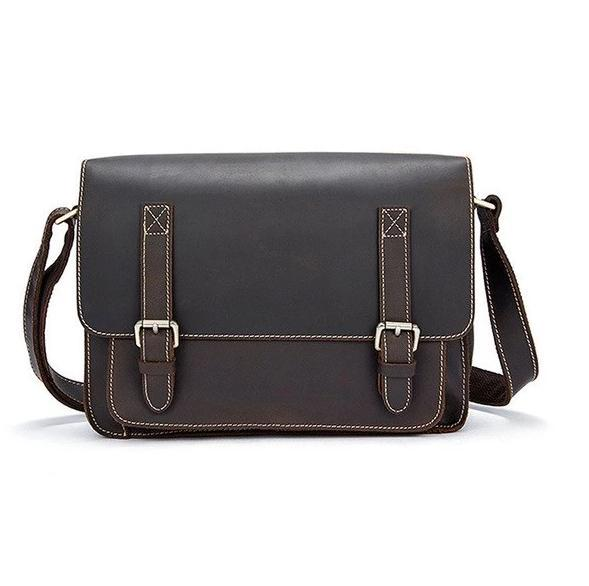 Classic Style Leather Messenger Bag - BeSmashing