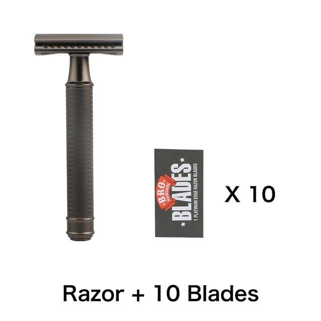 Gun Metal Double Edge Safety Razor - BeSmashing