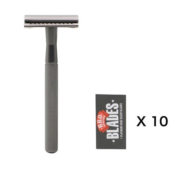 Alloy Black Safety Razor - BeSmashing