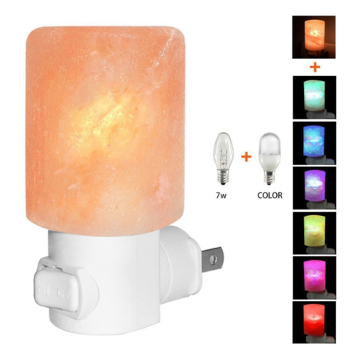 Neu Natural Himalayan Salt Lamp Night Light Crystal Lamp Hand Carved Light Farbe