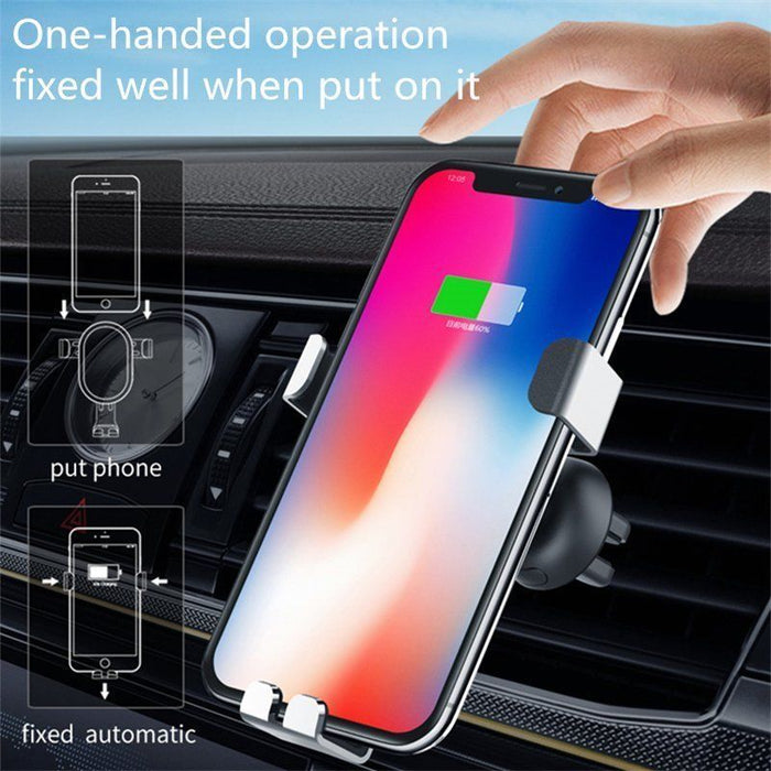Wireless Car Charger Air Vent Phone Holder Mount Charge Für Samsung iPhone 8/X