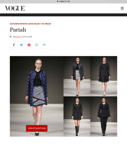 Pariah Clothing in Vogue UK