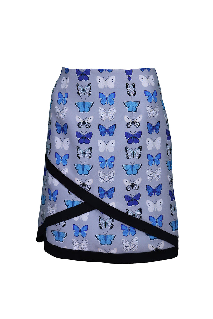 Front view of Blue Butterfly skirt