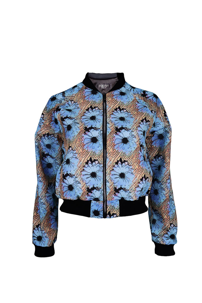 Front view of Blue Daisy Bomber