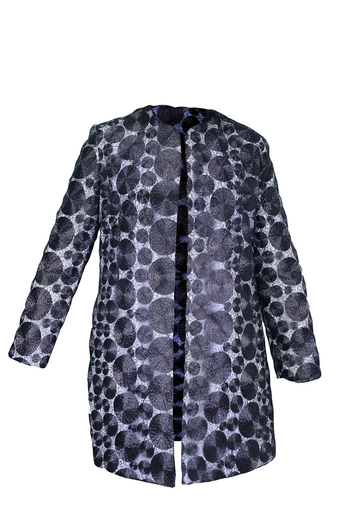 Front view of The Starry Nights Coat in black