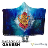 animal totem Plaid à capuche Ganesh mantra Galaxie animal de force chamanisme nature vegan