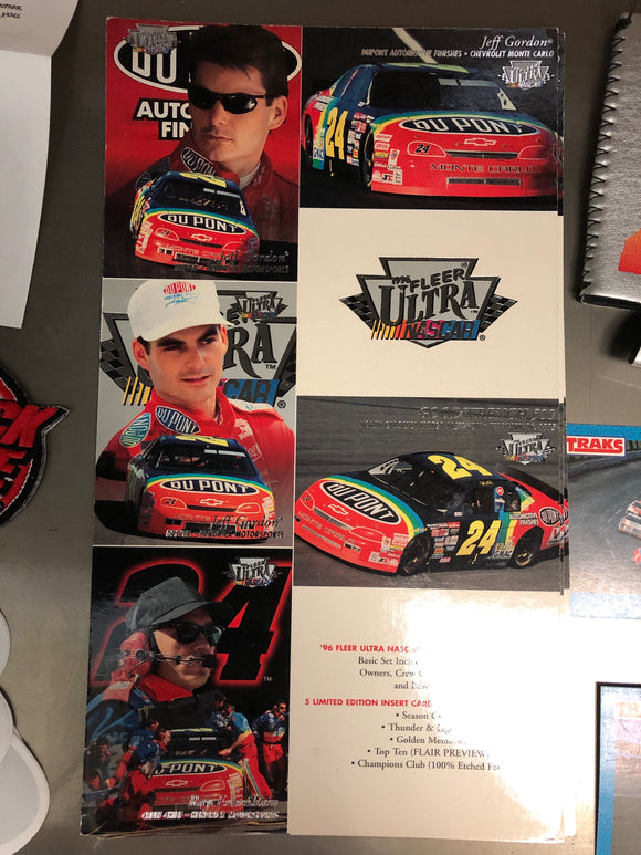 Rare Jeff Gordon Uncut Fleer Trading Cards