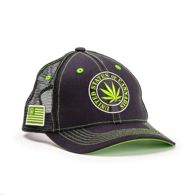 United States of Cannabis Bold Logo Trucker's Cap
