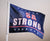 "USA STRONG 11"" x 14"" Two-sided Car Flag"