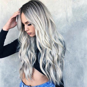 Light Blond Curly Highlighted Hair