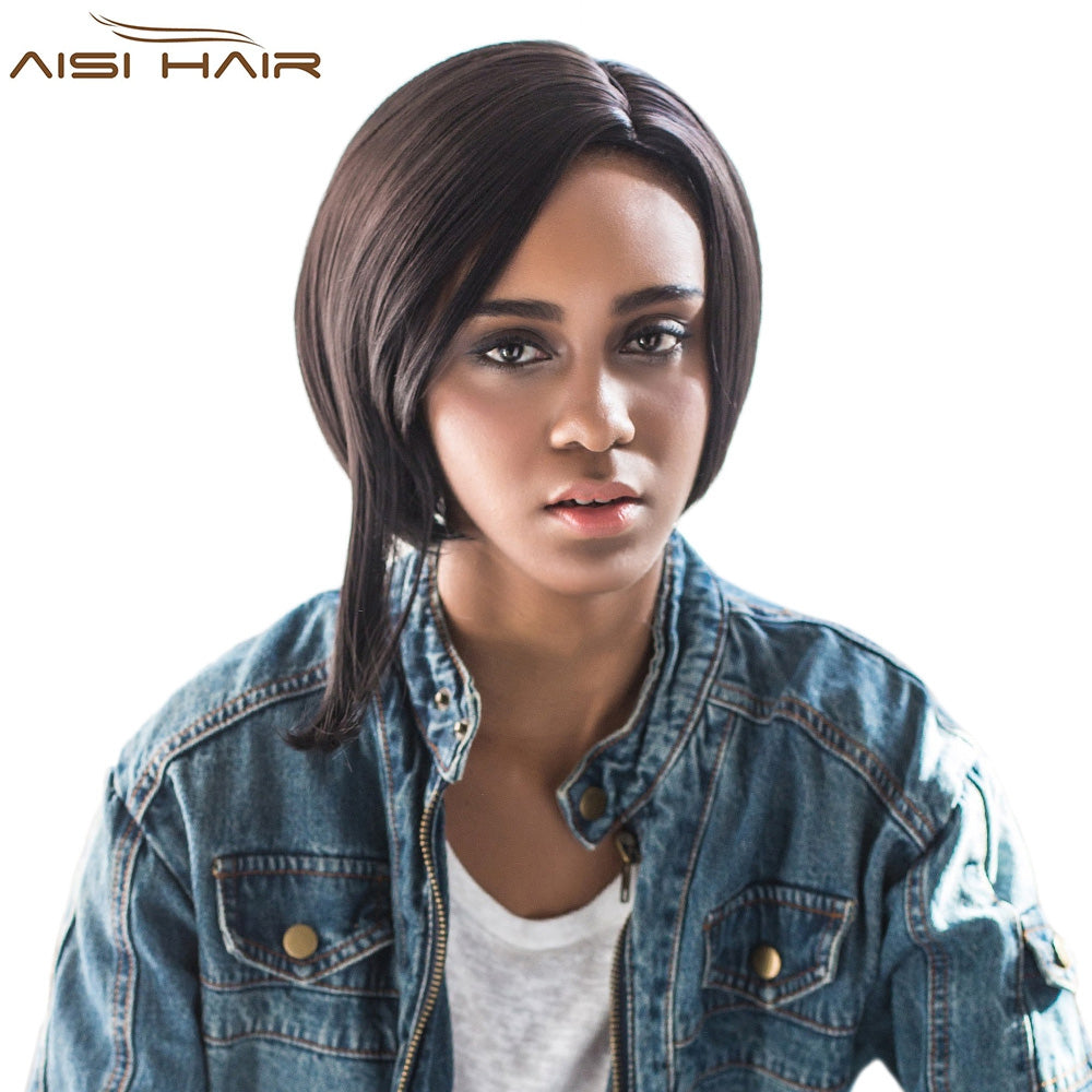 AISIHAIR Side Parting Short Asymmetrical