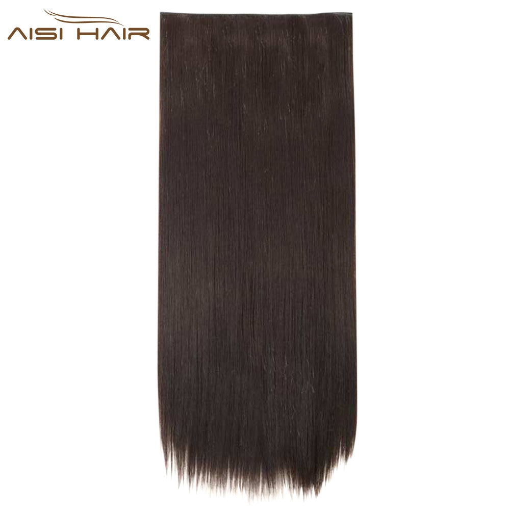 AISI HAIR Long Silky Straight 5 Clips Extensions