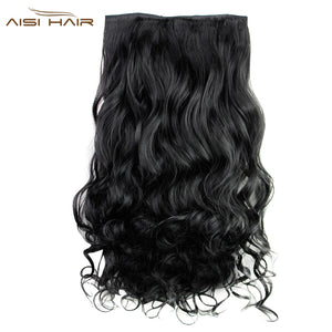 AISI HAIR Long Curly 5 Clips Wig Extensions
