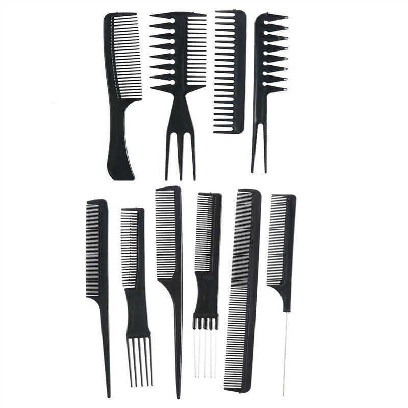 10 Pcs Hair Brush Set