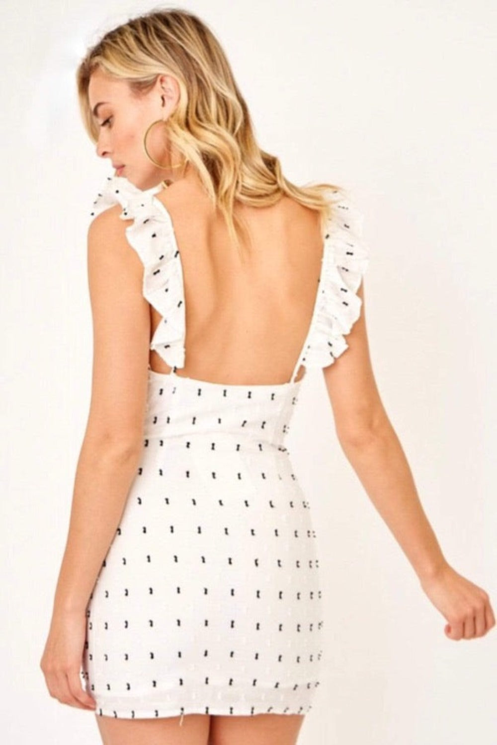 Society Mini Dress - White