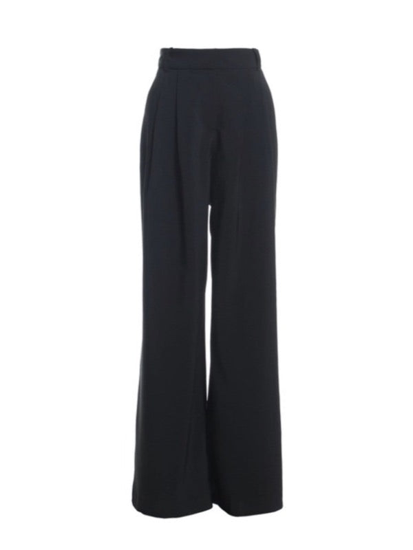 High Waist Trousers - Black